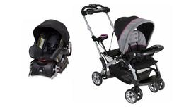 Baby Trend Sit 'N Stand Ultra Double Stroller with Car Seat