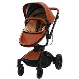 Wonder Buggy Stork 2 in 1 Deluxe Urban Carrycot Stroller wit
