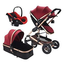 Baby Stroller 3 in 1 Pram with Car Seat Travel System Baby S