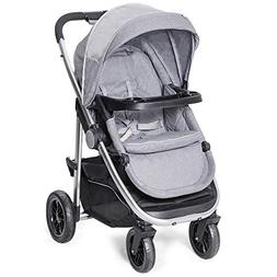 Costzon Baby Stroller, Convertible Baby Carriage, Infant Pra