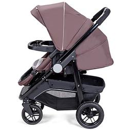Costzon Baby Stroller, 2-in-1 Convertible Baby Carriage, Inf