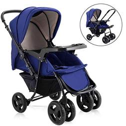 HONEY JOY Infant Stroller Two Way Foldable Baby Toddler Push