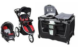 Stroller with Car Seat Baby Travel System Playard Crib Infan