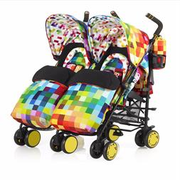 Infant Cosatto Supa Dupa Pixelate Double Stroller, Size One