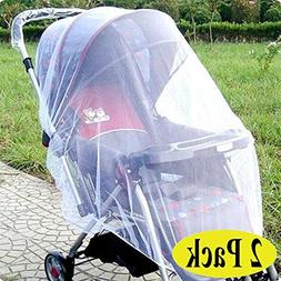 Swity Home 2 Pack Baby Mosquito Net for Strollers, Car Seats