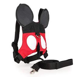 Toddler Anti-lost Walking Safety Harness with Leash Cute Bab