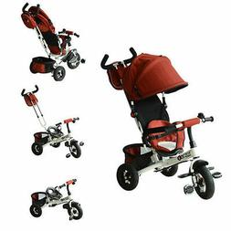 Qaba 2-in-1 Baby Ride On Tricycle Trike Stroller Push Toddle