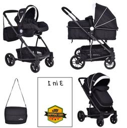 Travel Stroller Newborn Baby Infant Foldable Pushchair 3 In