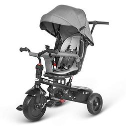 besrey Kids Trike 7 in 1 Push Stroller Baby Tricycle with Ro
