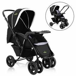 Two Way Foldable Baby Kids Travel Stroller Newborn Infant Pu