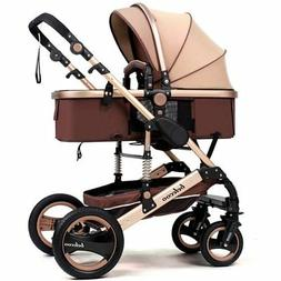 TZ Luxury Newborn Baby Foldable Anti-shock High View Carriag