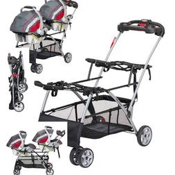 Universal Double Stroller Two 2 Infant Car Seat Frame Twins