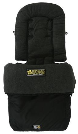 Valco Baby Universal Fit All Sorts Snug Foot Muff, Black