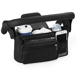 Universal Stroller Organizer with Insulated Cup Holder by Mo