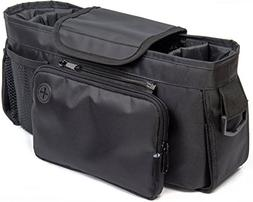 Stroller Organizer Bag -Universal Fit, Large Storage Space f