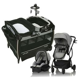 Evenflo Urbini Baby Stroller Travel System Car Seat Set with