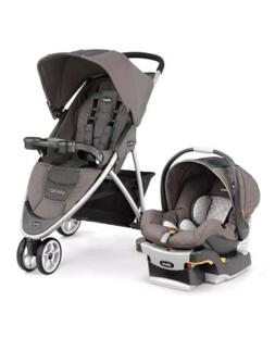 Chicco Viaro Lightweight Quick Fold Travel System - Dune