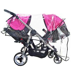Weather Shield Double Stroller Rain Cover Twin Tandem Univer