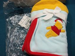 Disney Winnie the Pooh 2-Pk Stroller Blanket and Hat