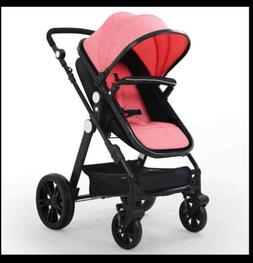 wonfuss baby stroller 3 in 1 pink