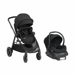Maxi-Cosi Adorra 2.0 5-in-1 Modular Travel System with Mico Max 30 Infant Car Seat Night Black